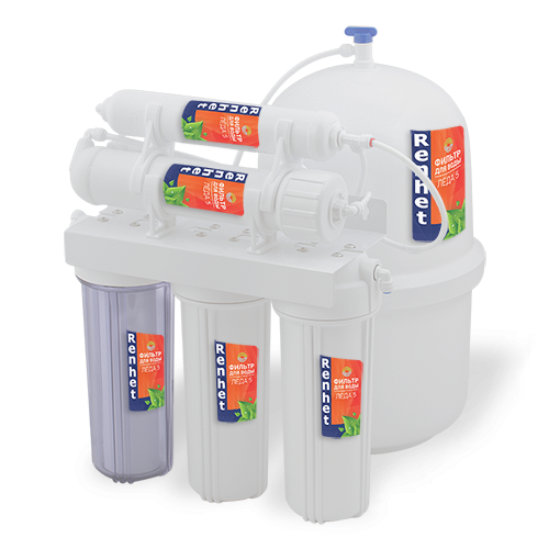 Стационарный фильтр для очистки питьевой воды с обратным осмосом Renhet ЛЁДА 5
